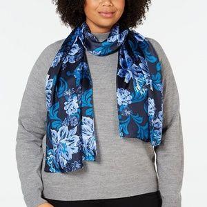 Echo silk scarf Navy -Giving me butterflies - New